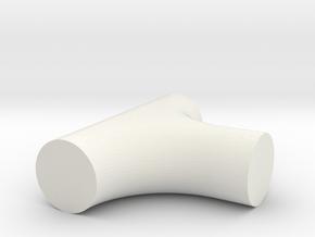 T-6 in White Natural Versatile Plastic