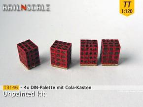 4x DIN-Palette mit Cola-kästen (TT 1:120) in Smooth Fine Detail Plastic