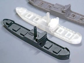 Three island cargo ship 1/700  in Smooth Fine Detail Plastic