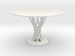 1:12 Miniature Cyclone Dining Table - Isamu Noguch in White Natural Versatile Plastic