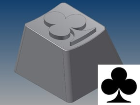 Club Keycap (R4, 1x1) in White Natural Versatile Plastic