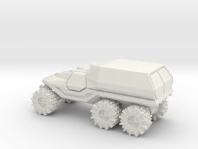 All-Terrain Vehicle 6x6 with enclosed cargo area in White Natural Versatile Plastic