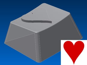 Heart Keycap (R1, 1.25x) in White Natural Versatile Plastic