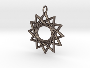 Sunna in Polished Bronzed Silver Steel