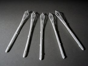 Icicles x5 in White Natural Versatile Plastic