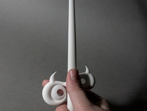 Windwaker Wand Small Old in White Natural Versatile Plastic