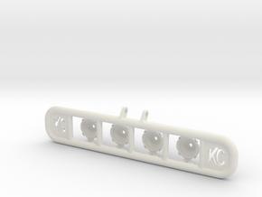 Baja Light Rack RC Crawler in White Natural Versatile Plastic