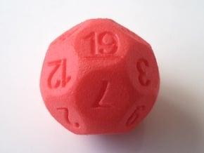 D19 for Impact! Miniatures in Red Processed Versatile Plastic