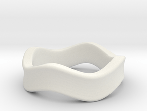 K 7.2mm Concave Band in White Natural Versatile Plastic