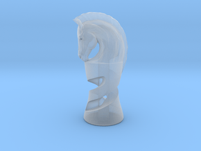 Chess Knight in Smooth Fine Detail Plastic: Medium