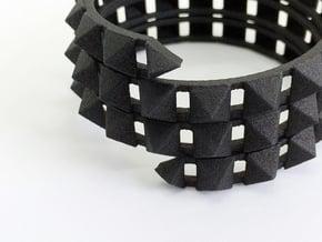 Urban Chic - Rivet Wrap Cuff Bracelet in Black Natural Versatile Plastic