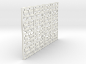 Sheep Grazing X 64 - 3mm Scale/1:100 in White Natural Versatile Plastic