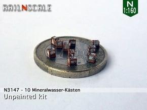 10 Mineralwasser-Kästen (N 1:160) in Smoothest Fine Detail Plastic