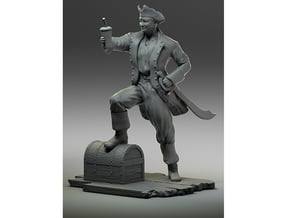 Pirate Smoothie- Body & Clothes only in White Processed Versatile Plastic