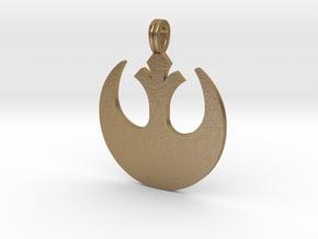 Rebels pendant in Polished Gold Steel