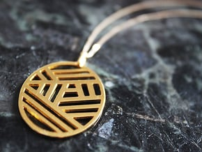 The Bonnie Pendant in 18k Gold Plated Brass