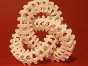Escher knot medium in White Natural Versatile Plastic