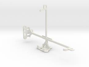 Nintendo Switch console tripod & stabilizer mount in White Natural Versatile Plastic