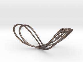 Splint - HE-heart in Polished Bronzed-Silver Steel