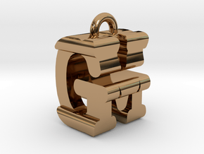 3D-Initial-GM in Polished Brass