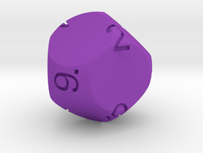Big Spherical D9 Dice in Purple Processed Versatile Plastic