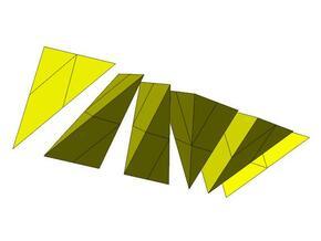 Hill's Tetrahedra Prism in White Natural Versatile Plastic
