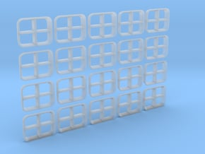 1/96 IJN Windows Set in Smooth Fine Detail Plastic