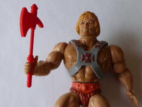 MOTU replacement ax for 1980s Castle Grayskull in Red Processed Versatile Plastic