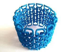 Stitch Bracelet - S in Blue Processed Versatile Plastic