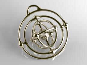 Atom Pendant in Polished Brass (Interlocking Parts)
