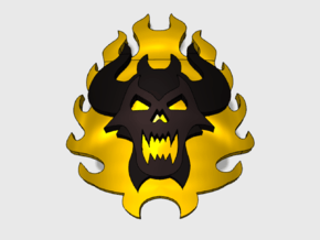 60x Burning Demon : Shoulder Insignia pack in Smooth Fine Detail Plastic