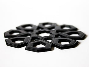 Arabian Coaster 2.0 in Black Natural Versatile Plastic
