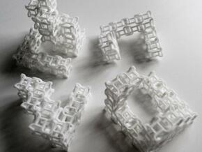 Quaturnery Qube (hollow) in White Natural Versatile Plastic