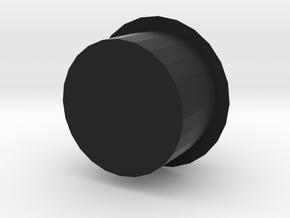 Gunder Circular Trapezoid Barrel Plug in Black Natural Versatile Plastic