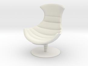 Lobster Armchair in White Natural Versatile Plastic