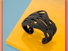 Audio | Unisex Bracelet in Black Natural Versatile Plastic: Medium