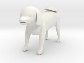 Standing dog 1 in White Natural Versatile Plastic