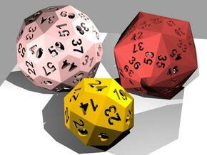 Catalan dice bundle 2 in White Natural Versatile Plastic