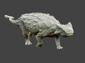 Ankylosaurus Krentz in White Natural Versatile Plastic