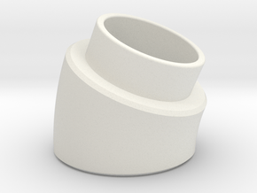 22.5 Deg Elbow in White Natural Versatile Plastic