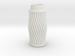 Cable Twist in White Natural Versatile Plastic