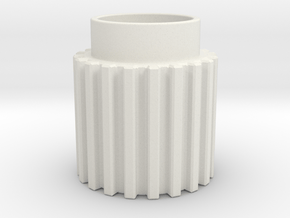 Chamfer Tooth Gear in White Natural Versatile Plastic
