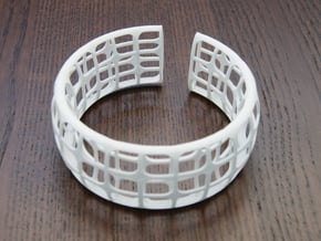 Deco Bracelet in White Natural Versatile Plastic
