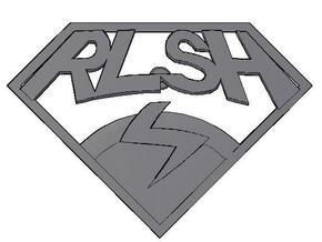 RLSH Badge in White Natural Versatile Plastic