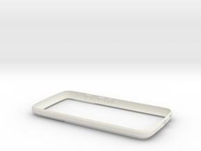 Moto G5 Plus Bumper - Low Profile in White Natural Versatile Plastic