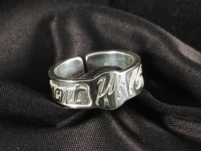Moment Ring - Love Live in Polished Silver