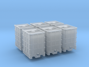 IBC Water Tank 500 6 Pack 1-87 HO Scale in Smooth Fine Detail Plastic