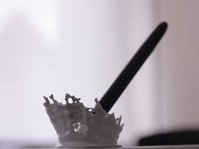 Splash Pen Holder in White Processed Versatile Plastic