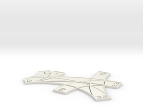 X-wing Multi template (with custom text) in White Natural Versatile Plastic