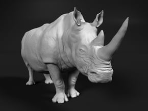 White Rhinoceros 1:87 Standing Male in Smooth Fine Detail Plastic